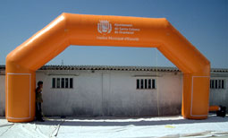 inflatable products, giant inflatables, giant arches