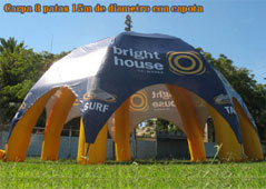 inflatable giant tent