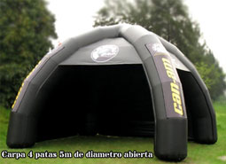 spider tents, custom made products, custom made inflatable products