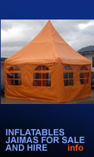 inflatable tents, jaimas, marquees