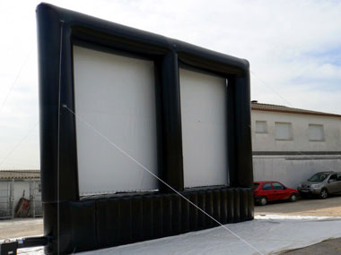 giant screen, giant inflatable screens, advertising posters, giant screen films